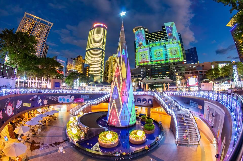 2018新北市歡樂耶誕城 耶誕主燈秀 來源:fb @ntctour