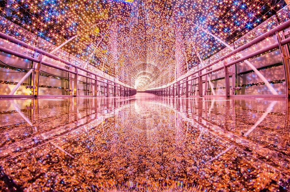 2018新北市歡樂耶誕城 金澄星橋 來源:fb @ntctour