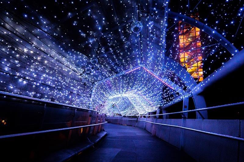 銀河星橋(照片來源:2018新北市歡樂耶誕城活動官網)https://bit.ly/2Px2don