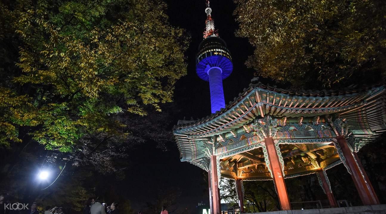 360度環觀首爾市景色的觀光塔:南山首爾塔