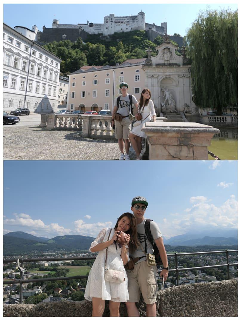 中世紀要塞城堡山下(上圖)和山上(下圖)的景致風味大不同,記得都要拍照留念!