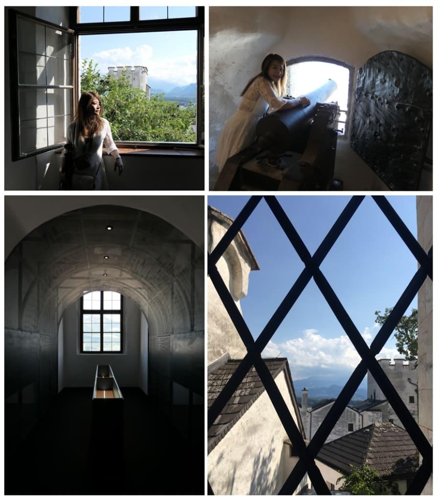 城堡內部的各種窗戶造型及窗外景致,值得細細品味。