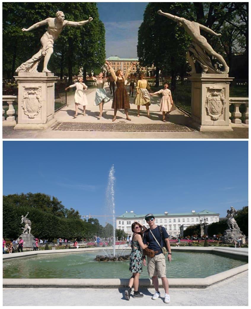 來到愜意宜人的米拉貝爾宮,可以蒐集電影《真善美》(上圖)的入鏡景點。上圖來源:電影《真善美》(The Sound of Music)
