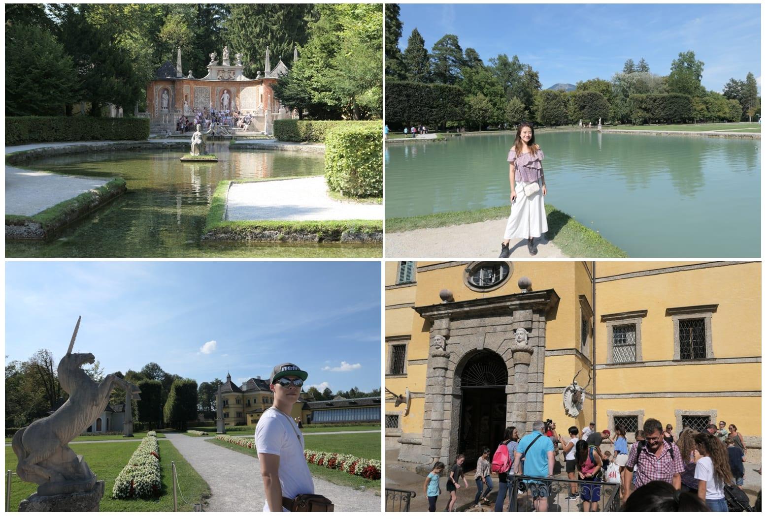 神秘的海布倫宮內十分豐富,可以一次參觀到洞穴、花園、噴泉、湖泊...等風光。