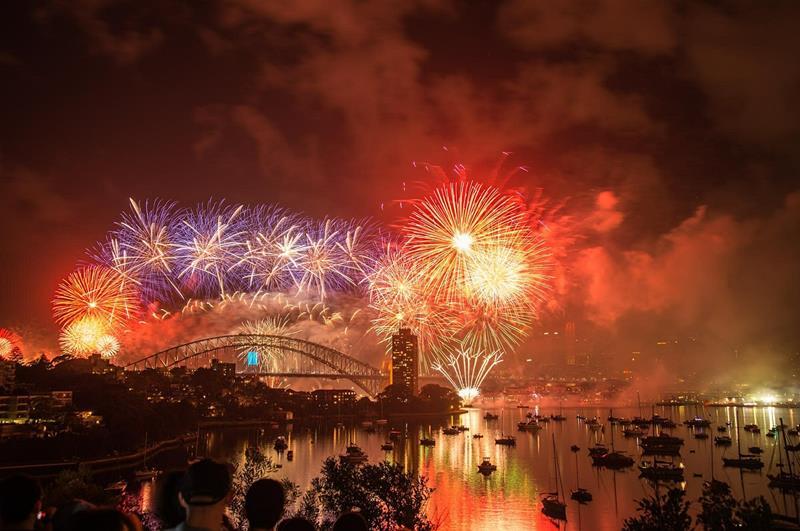 澳洲雪梨跨年煙火遊船(照片來源:@Pixabay)https://pixabay.com/