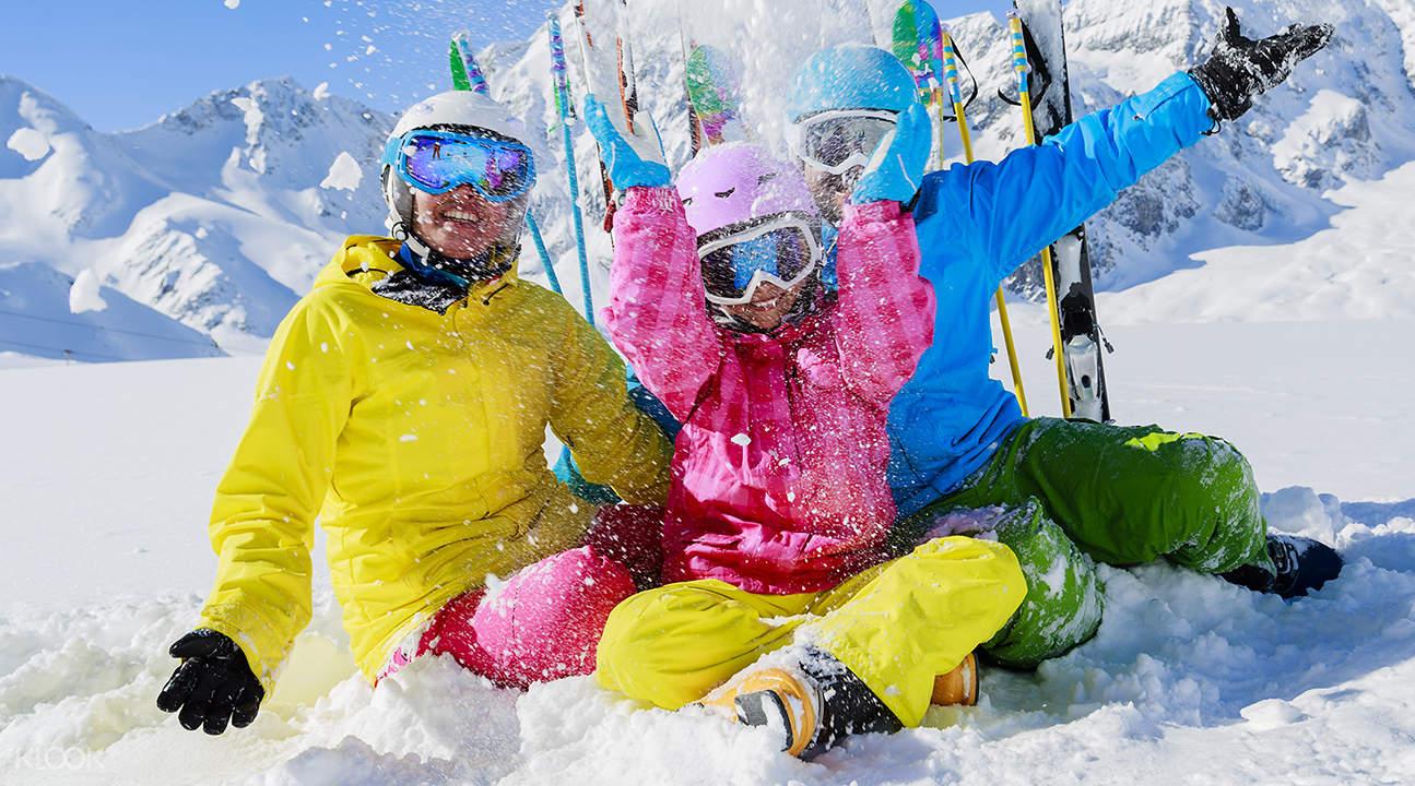 不論程度高低,在Greenland White Park都可以享受滑雪樂趣