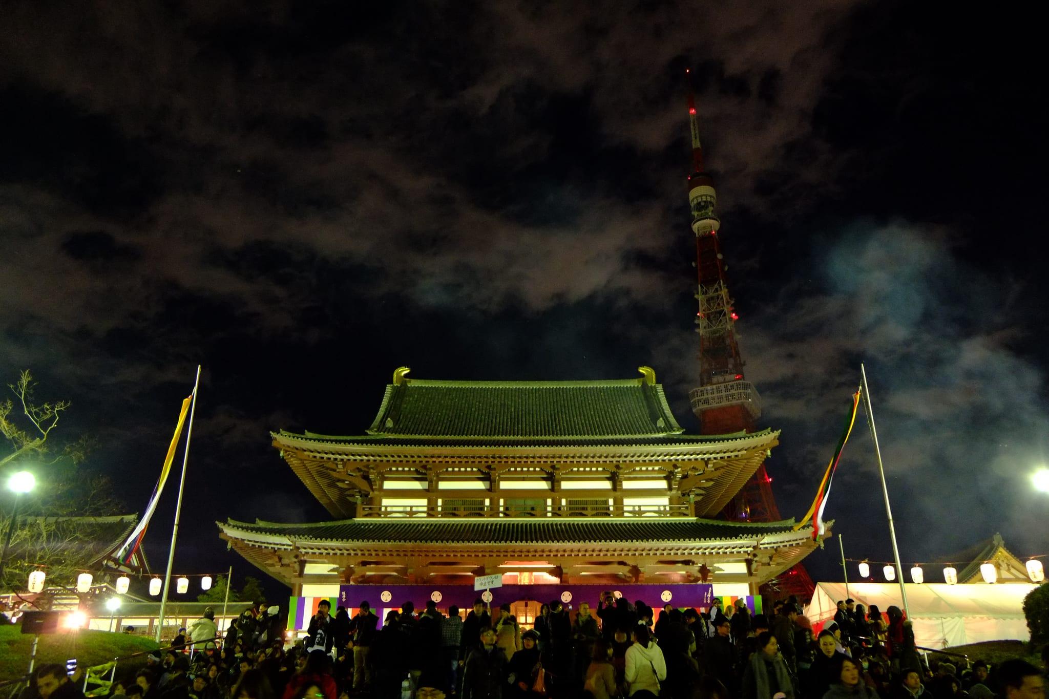 增上寺跨年 flickr@小黑 黑