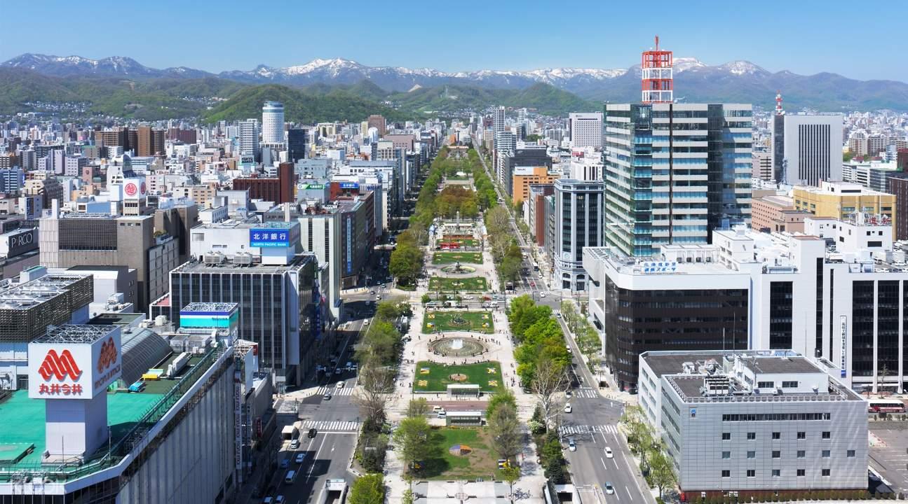 從札幌電視塔一覽大通公園