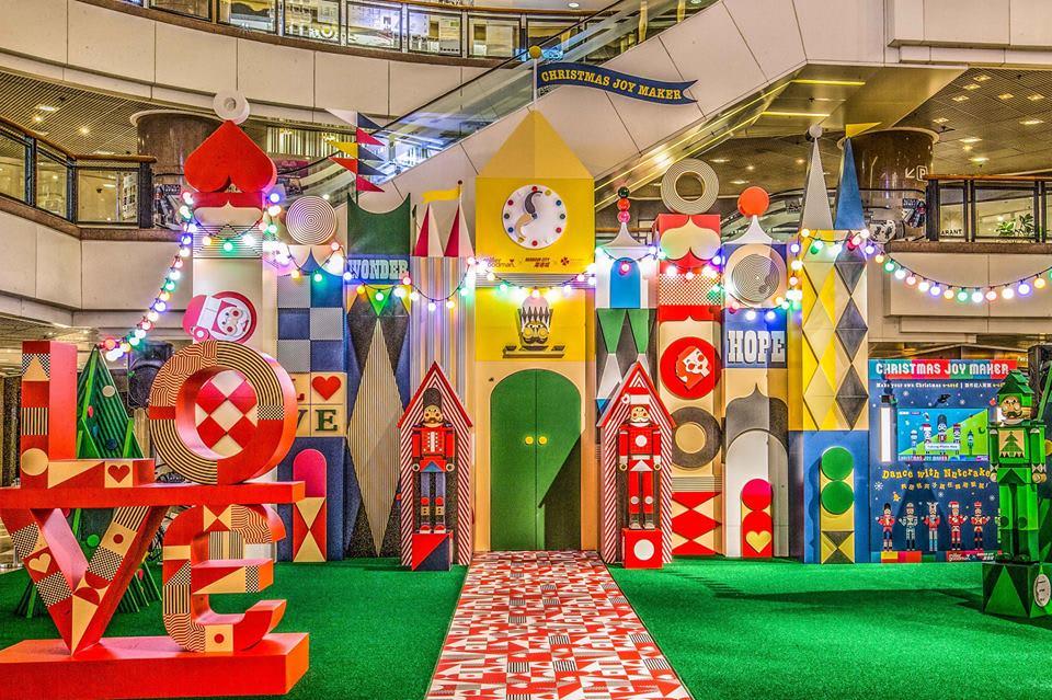 海港城今年與英國積木品牌Miller Goodman合作,堆積出胡桃夾「Christmas Joy Maker」的故事 / FB@HarbourCity