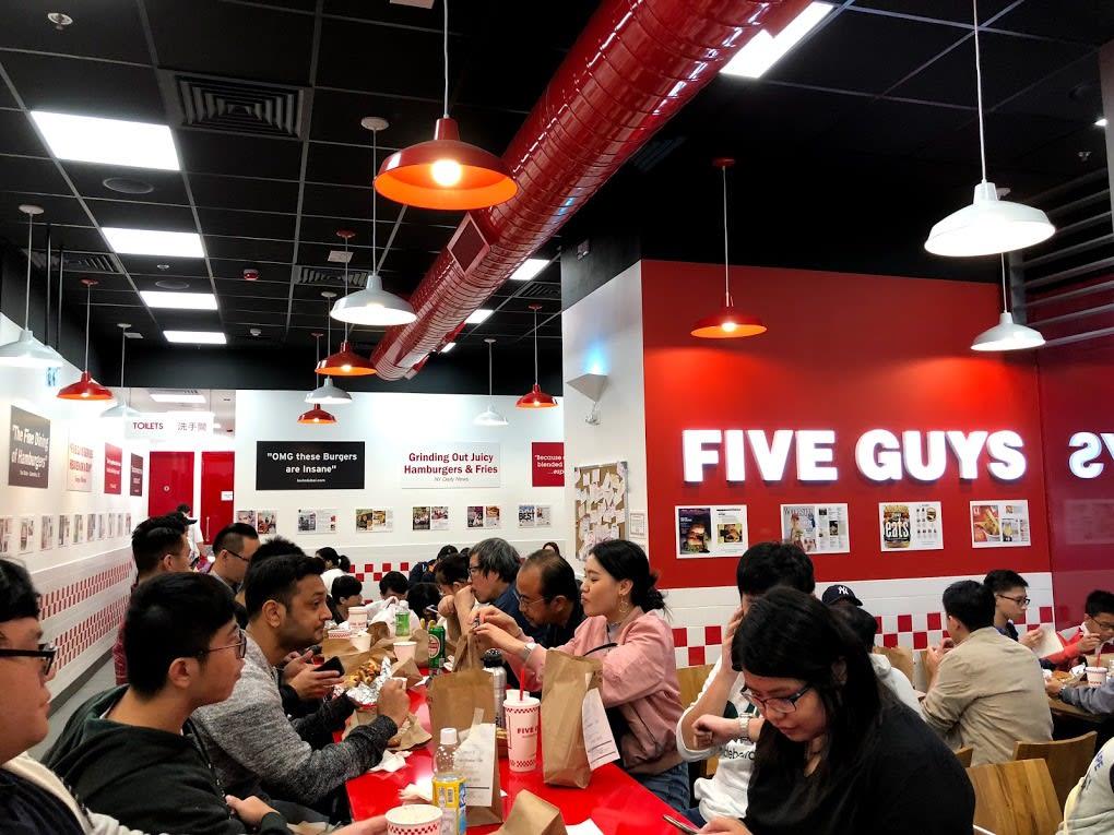 Five Guys 超美式風 | PC: Zach Huang