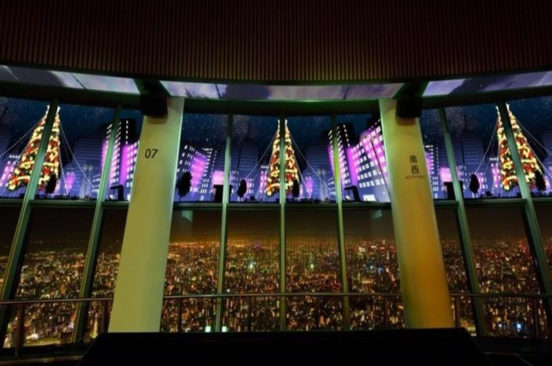 SKYTREE ROUND THEATER 「Happy Christmas」(照片來源:東京晴空塔官網)https://bit.ly/2rjFM8w