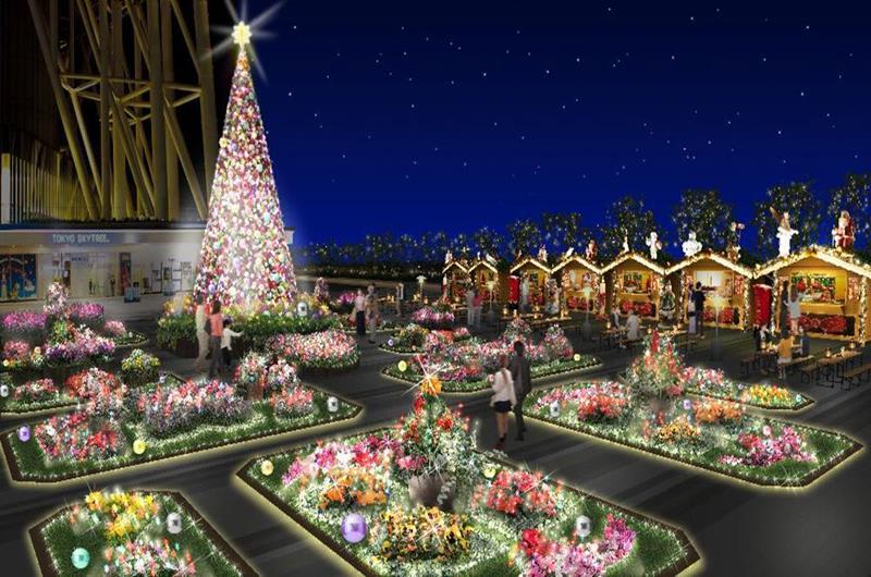 TOKYO SKYTREE TOWN Dream Christmas 2018(照片來源:東京晴空塔官網)https://bit.ly/2rjFM8w