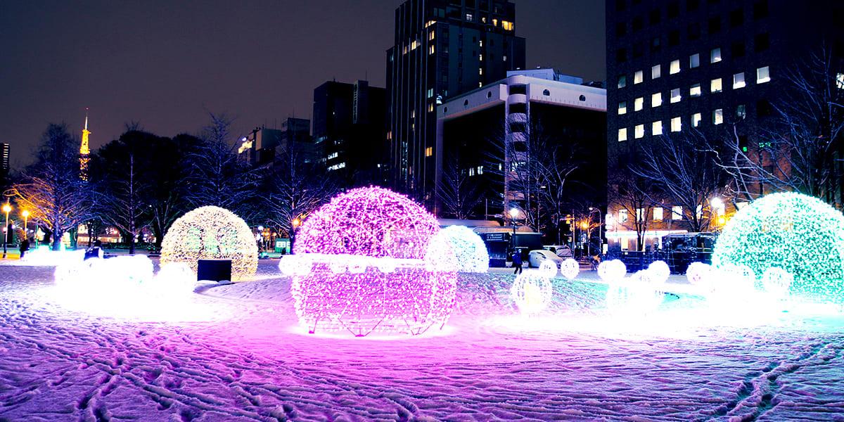 白色燈樹節一景 / http://www.sapporo.travel