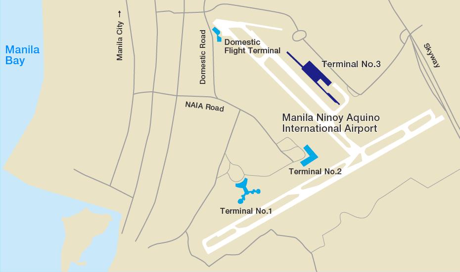 四個航廈沒有互通的馬尼拉國際機場 | PC:ANA