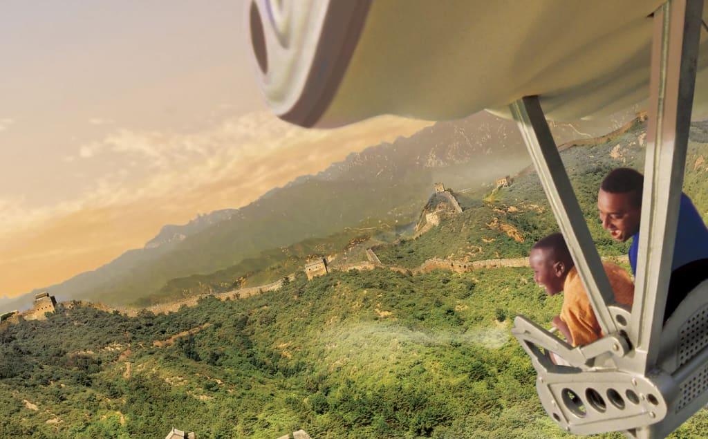 Soarin Around the World,圖片取自美國迪士尼樂園官網。