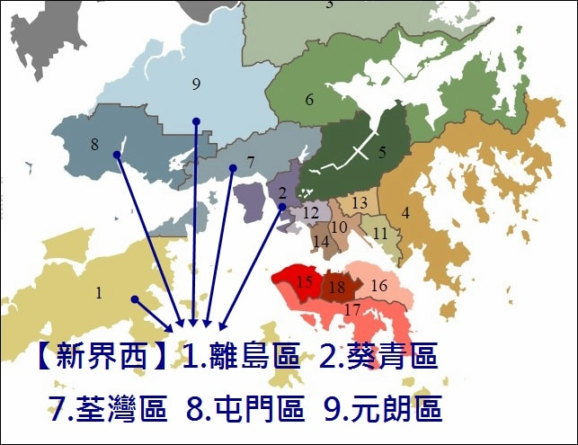 新界西-區域圖