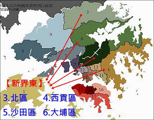 新界東-區域圖