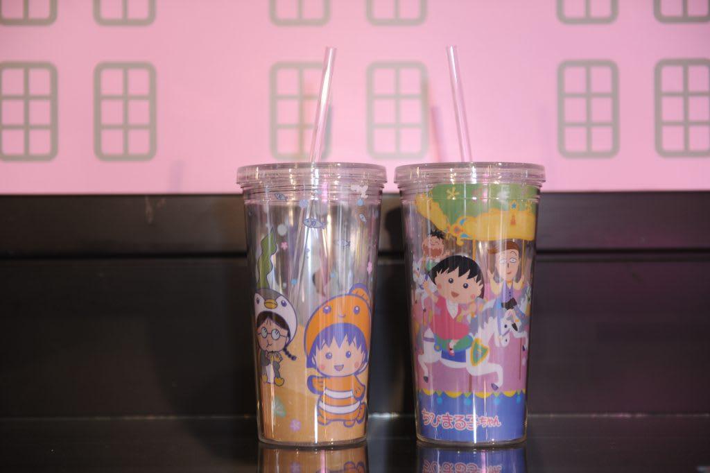 台北展覽,櫻桃小丸子限定吸水杯。