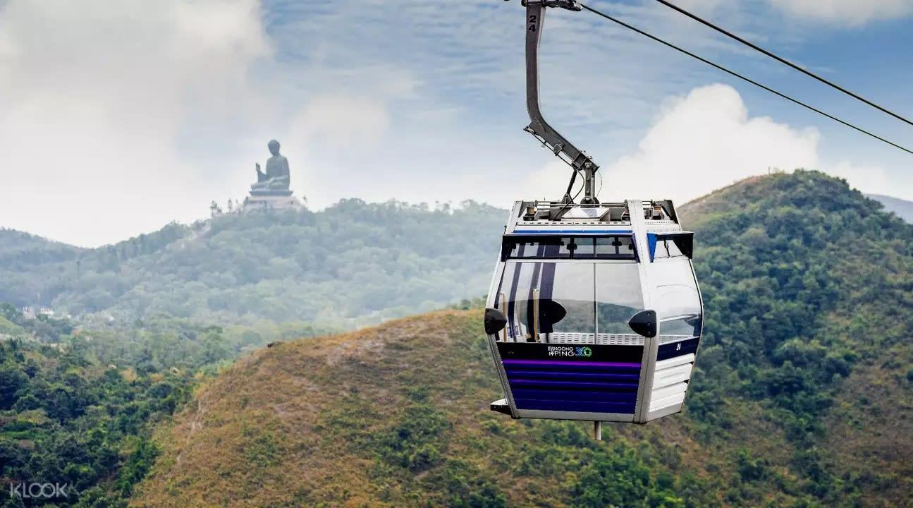 昂坪纜車連接大嶼山東涌及天壇大佛所在的昂坪,全長5.7公里。