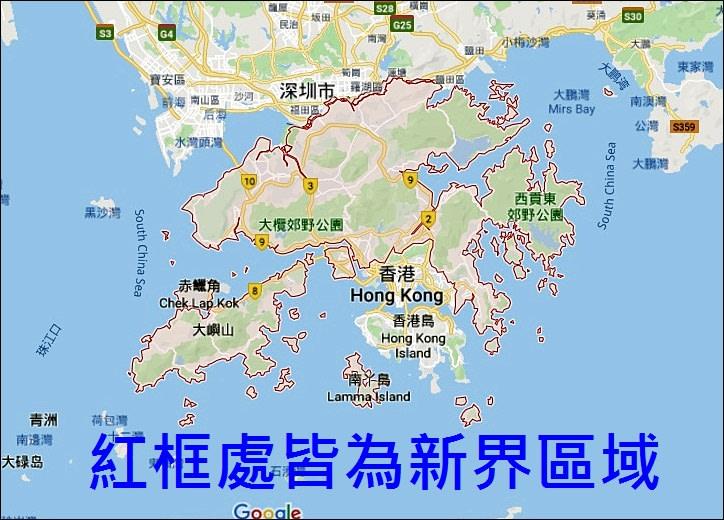 ▲ 新界區域圖