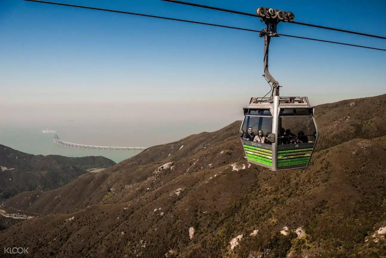 香港著名旅遊景點昂坪360即位於大嶼山。