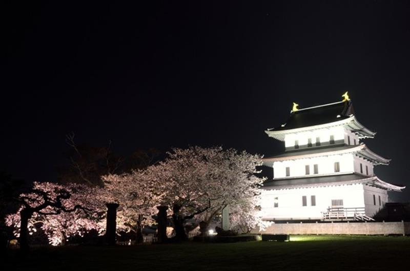 松前城夜櫻(照片來源:makizo_01@Photozou)https://bit.ly/2CrMmio