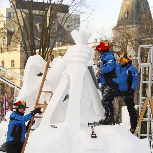 【冬季旅遊】零下十度「魁北克冬季嘉年華」景點懶人包!冰雕大師就在你身邊來自世界各地二十幾個國家的雪雕藝術家 / instagram@carnavaldequebec