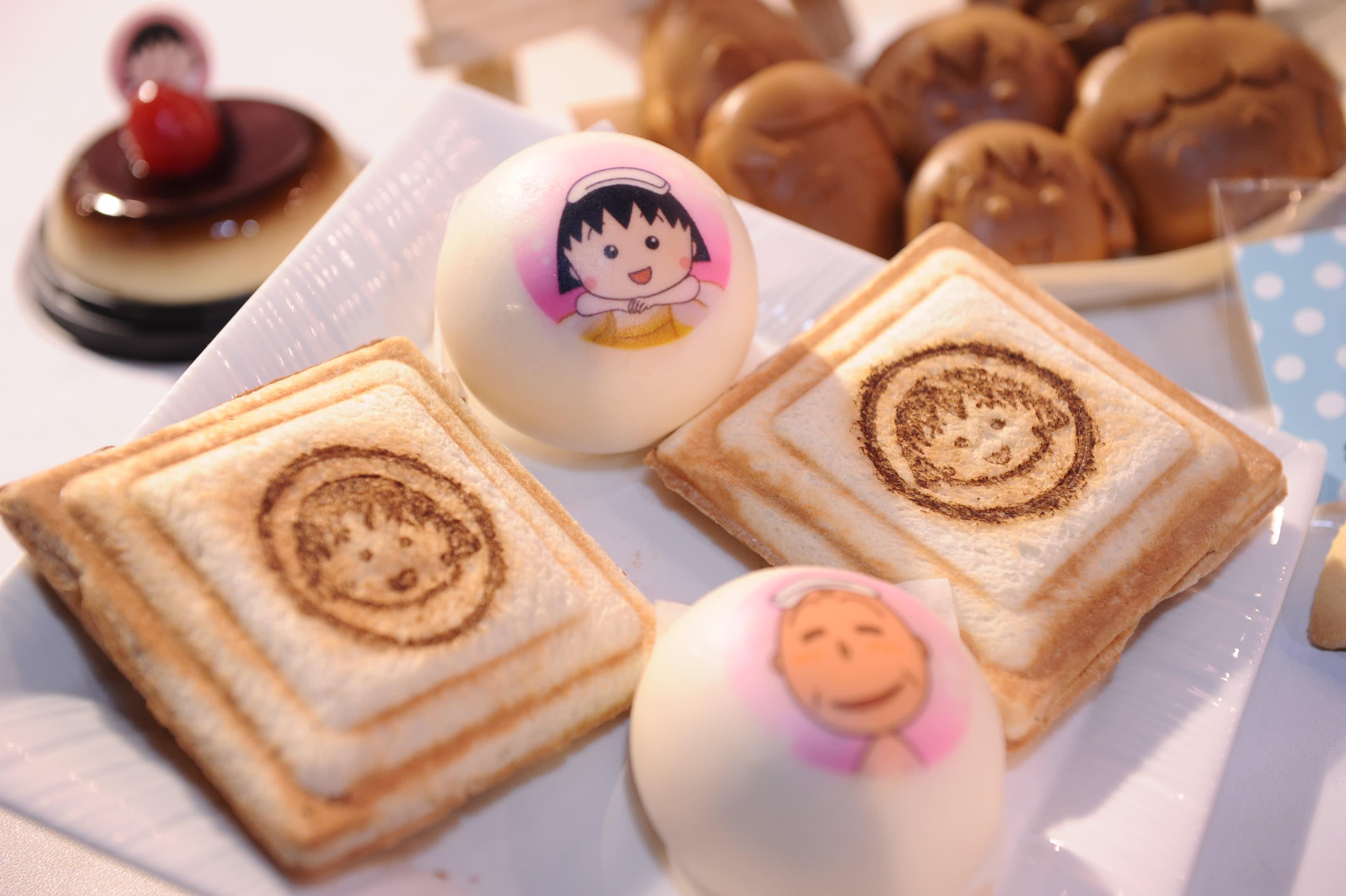 台北展覽,櫻桃小丸子熱壓吐司。
