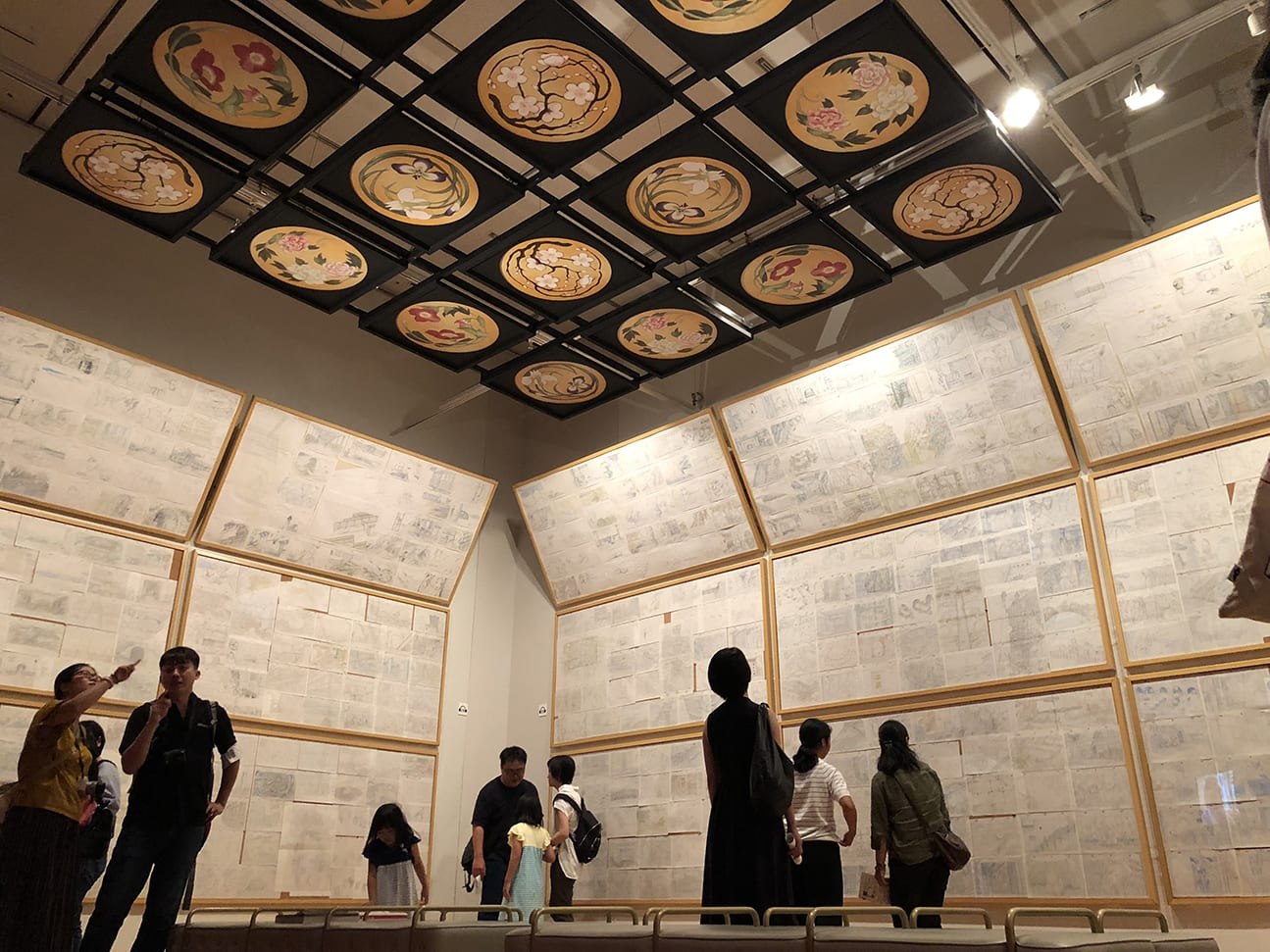 台北展覽,吉卜力動畫手稿展,動畫手稿區。