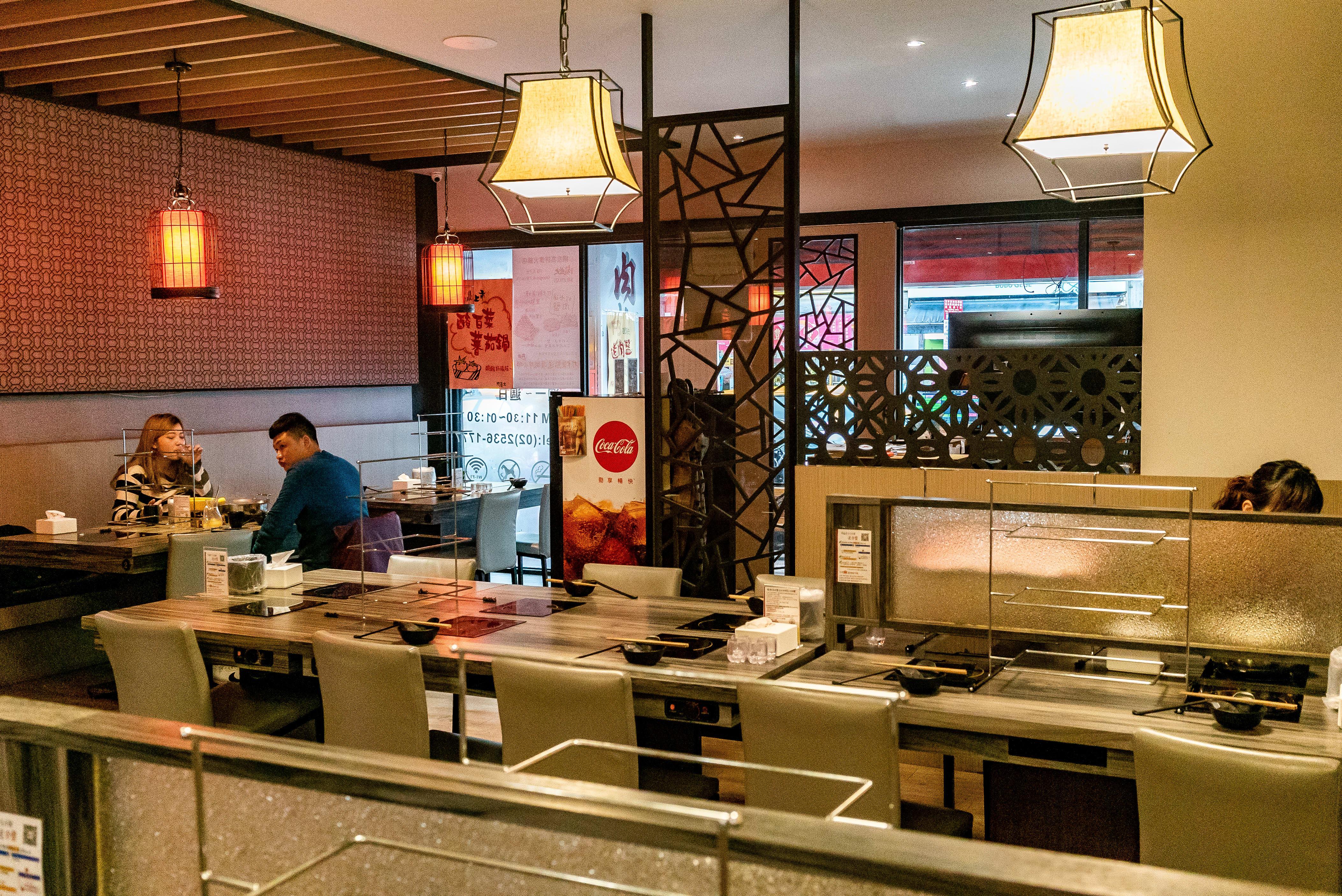 台北火鍋肉老大環境乾淨舒適。