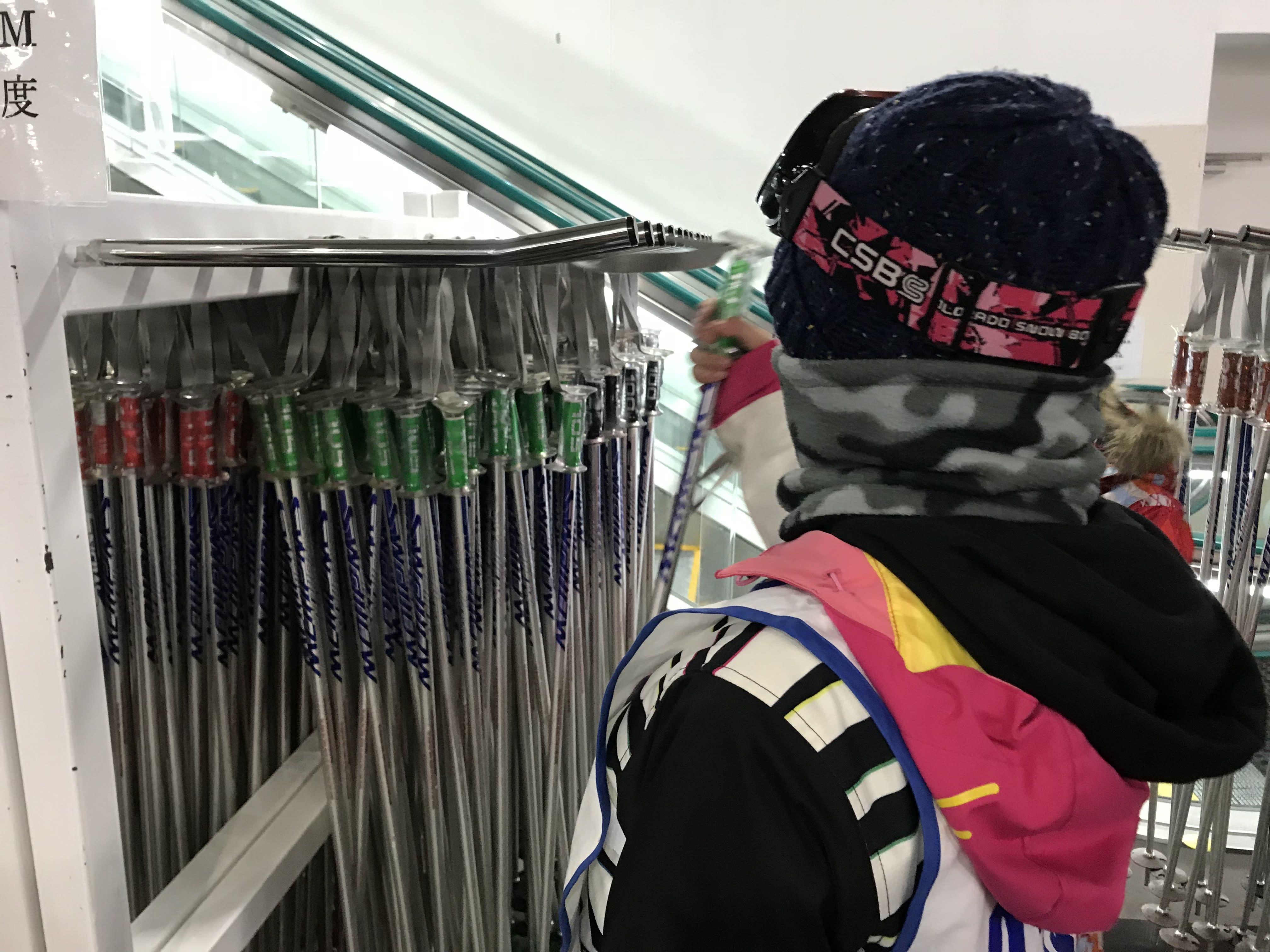 根據身高挑選雪仗,取自:Ann Shih。