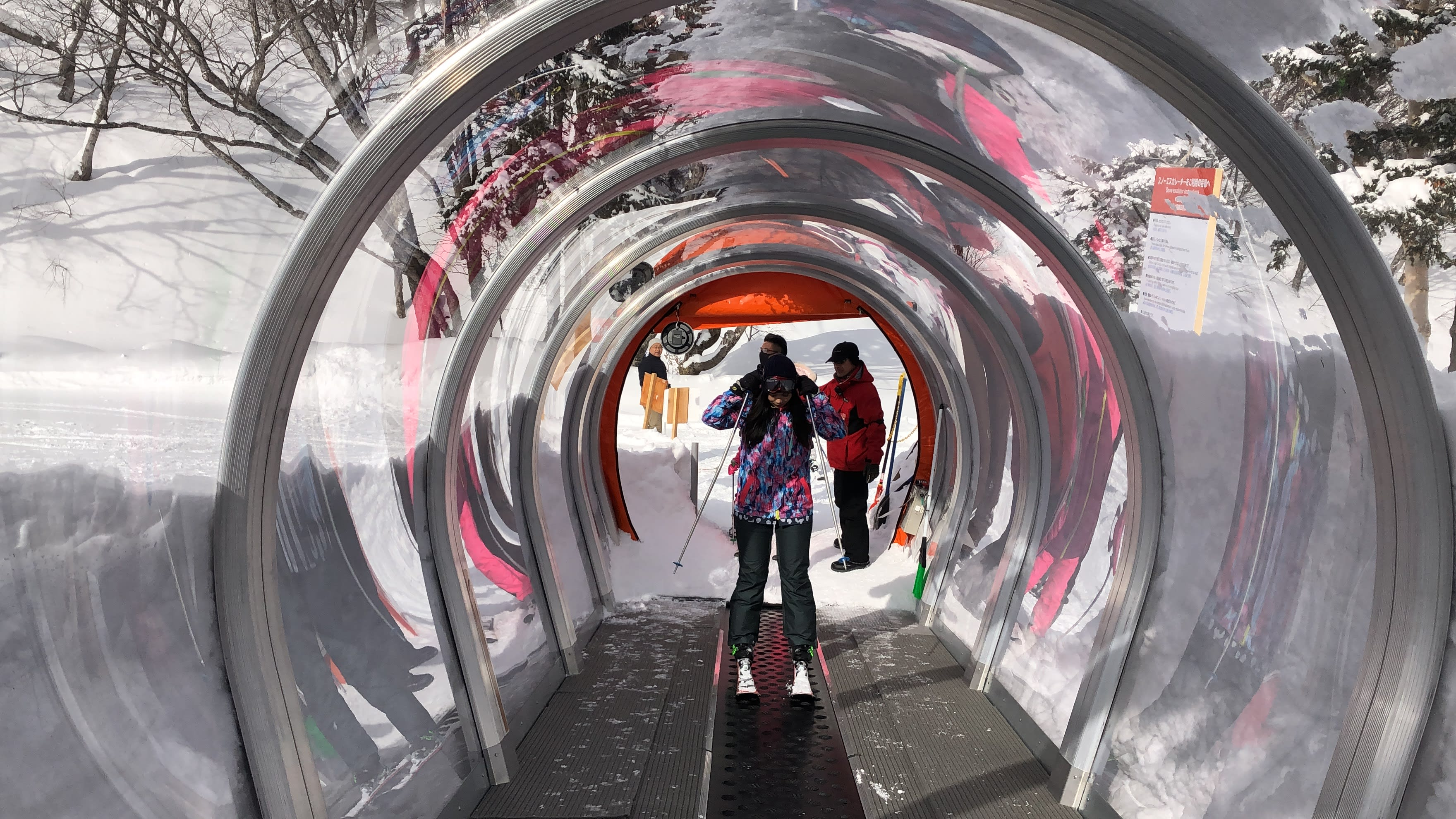 練習區的斜坡有小電梯可以運送你上去,取自:Ann Shih。