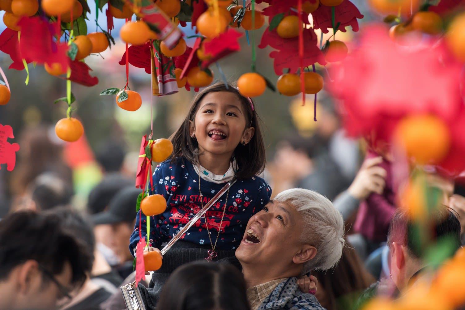 大埔林村許願廣場許願節,圖片取自www.lamtsuen.com。