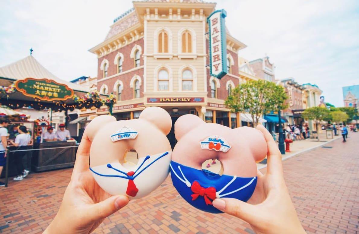 迪士尼人物造型甜甜圈,圖片取自香港迪士尼樂園IG。