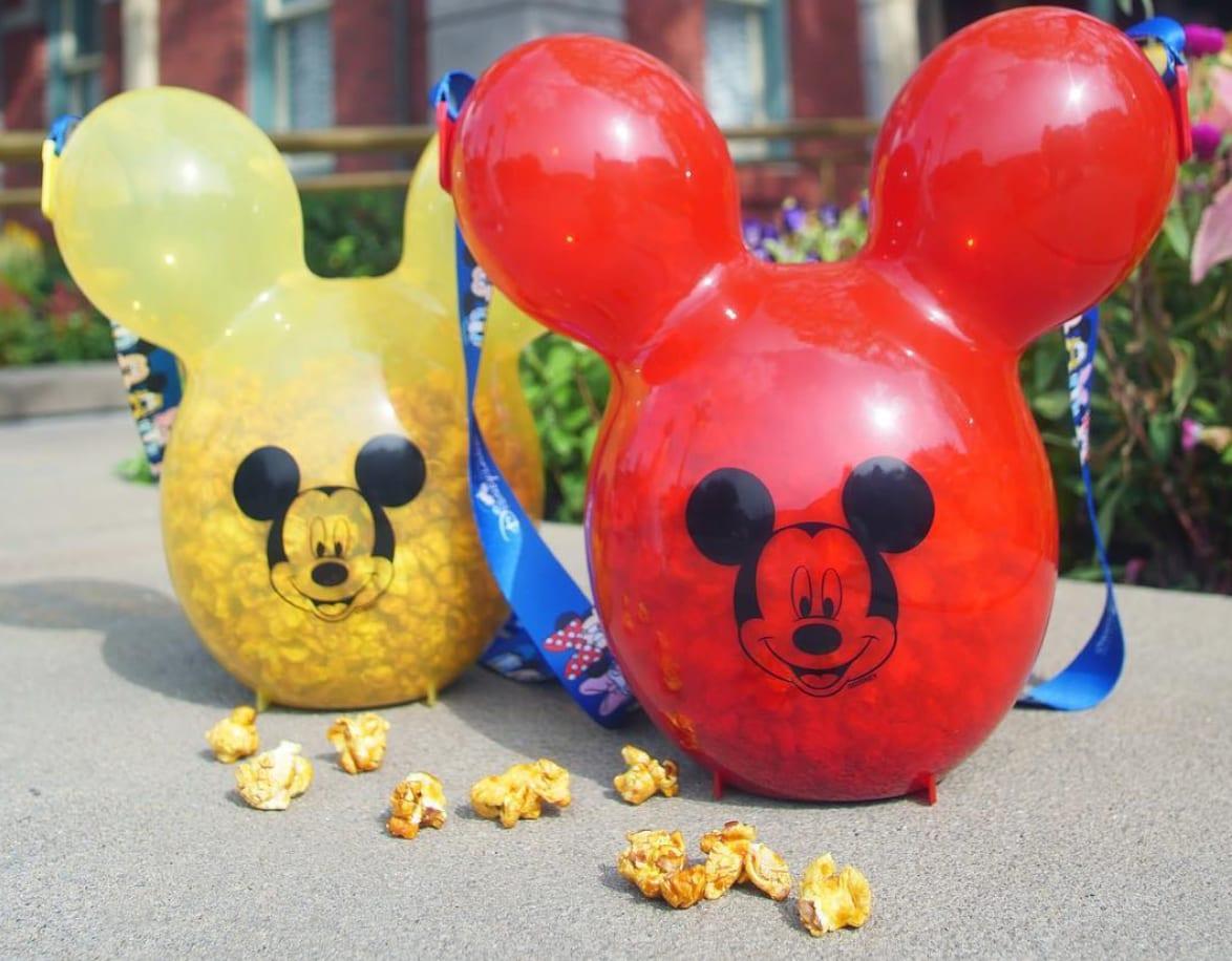 造型爆米花,圖片取自香港迪士尼樂園IG。