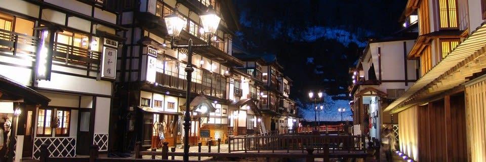 銀山溫泉老街,圖片取自www.ginzanso.jp