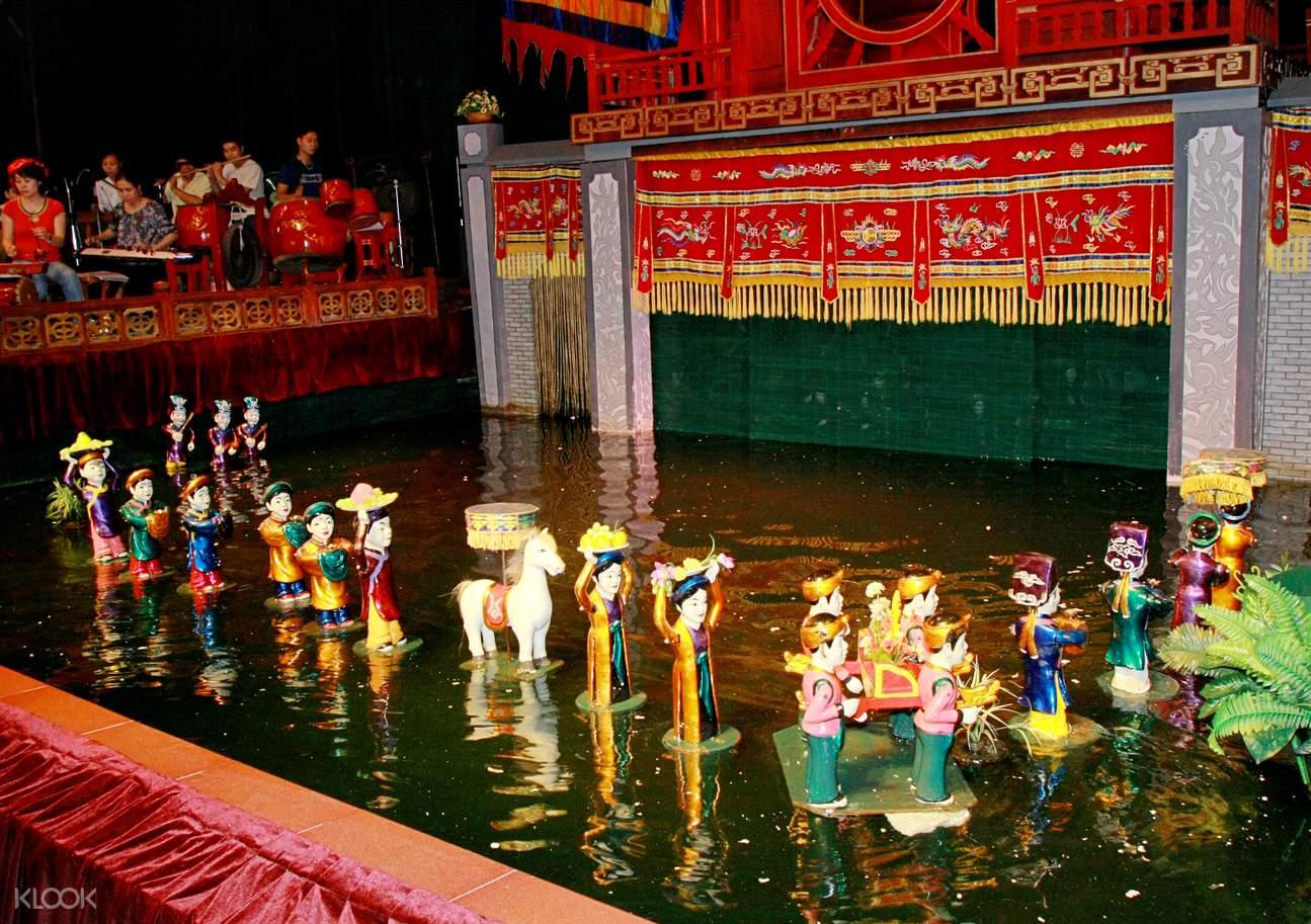 越南傳統民俗——生動有趣的水上木偶戲