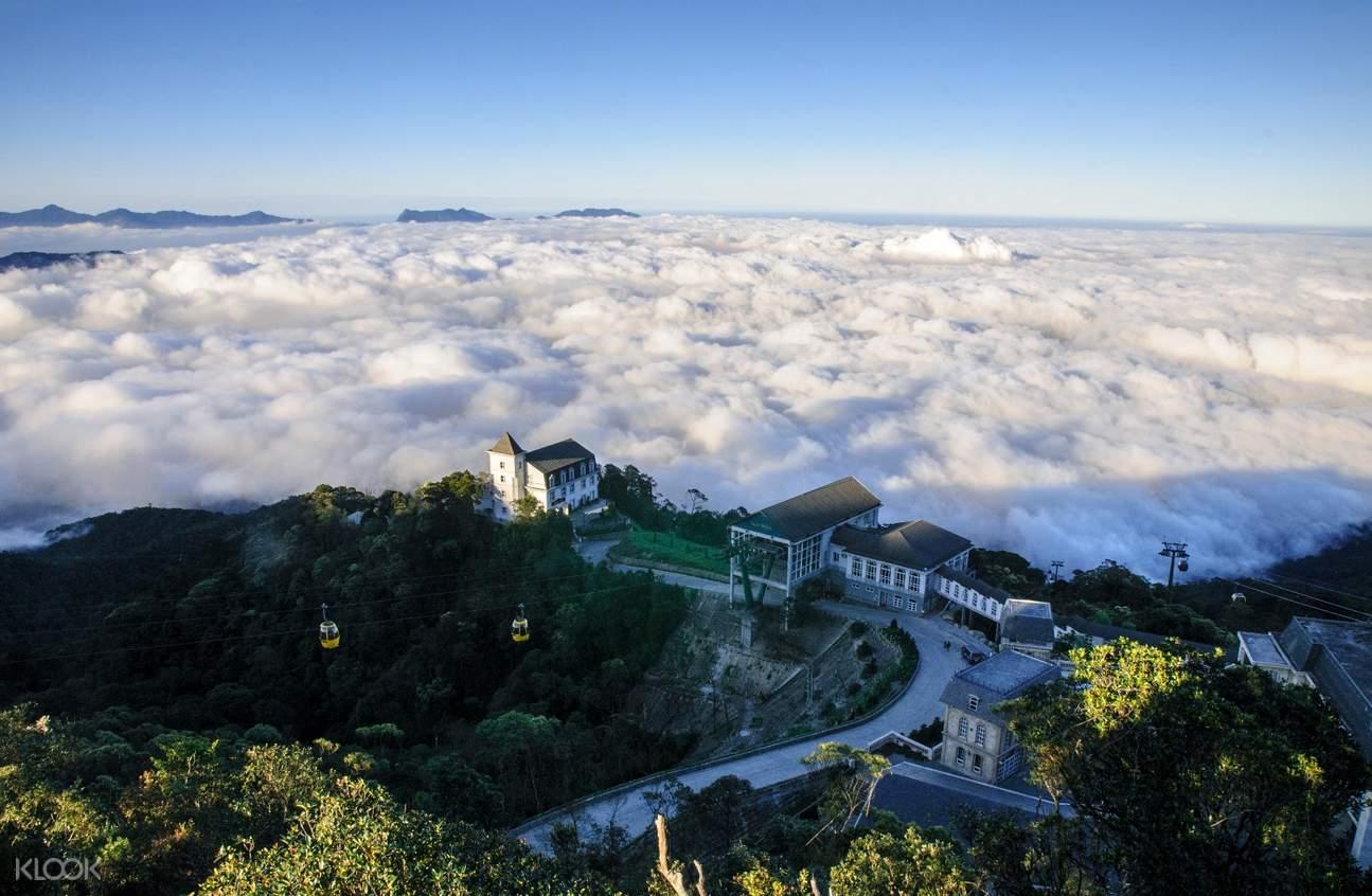 巴拿山下,雲海繚繞