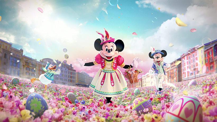 迪士尼明星們與兔子雞、兔子蛋與你共度復活節 來源:迪士尼官網