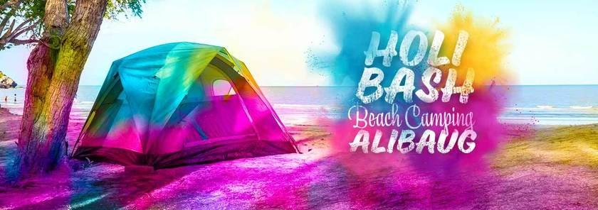 圖片取自Holi Special Beach Camping at Alibaug By Visionesta活動頁面