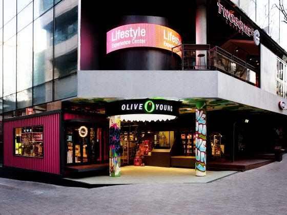 Olive Young旗艦店,圖片取自www.trazy.com