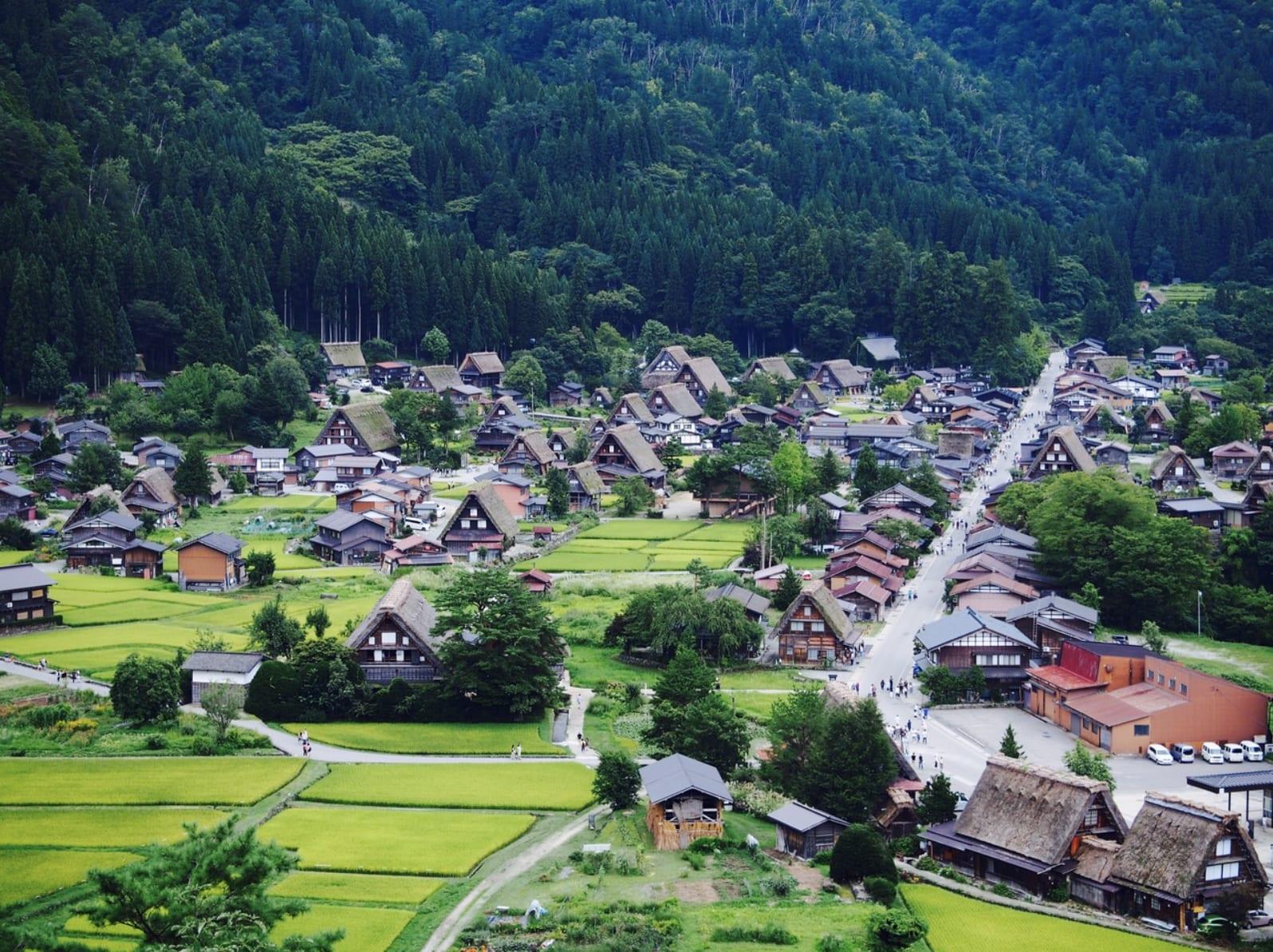 從展望台眺望的合掌村聚落。(圖片來源:4travel.jp)