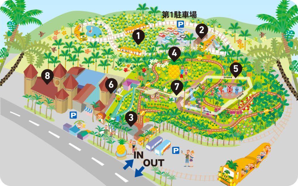名護鳳梨公園地圖