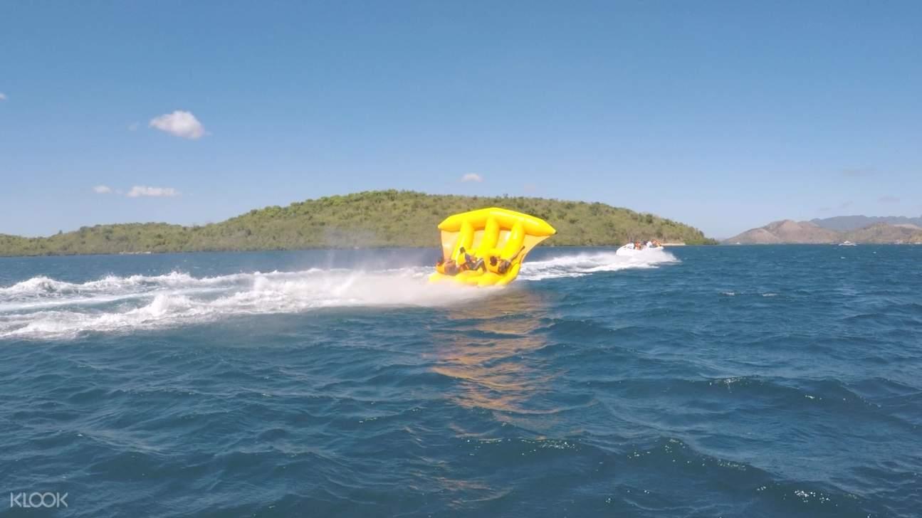 超刺激的飛魚船水上活動。
