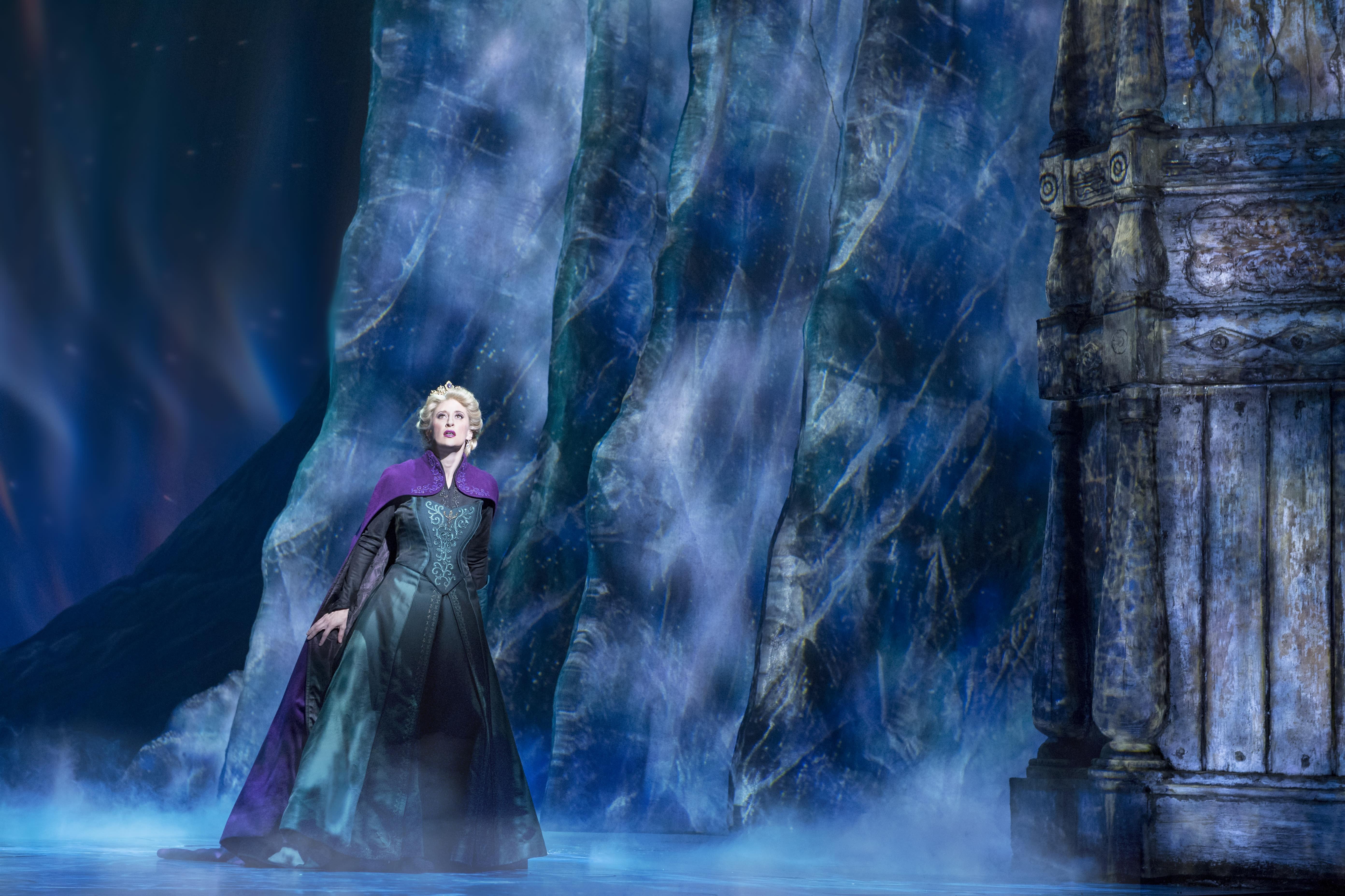 banner Caissie Levy as Elsa in FROZEN on Broadway Freeze Photo by Deen van Meer