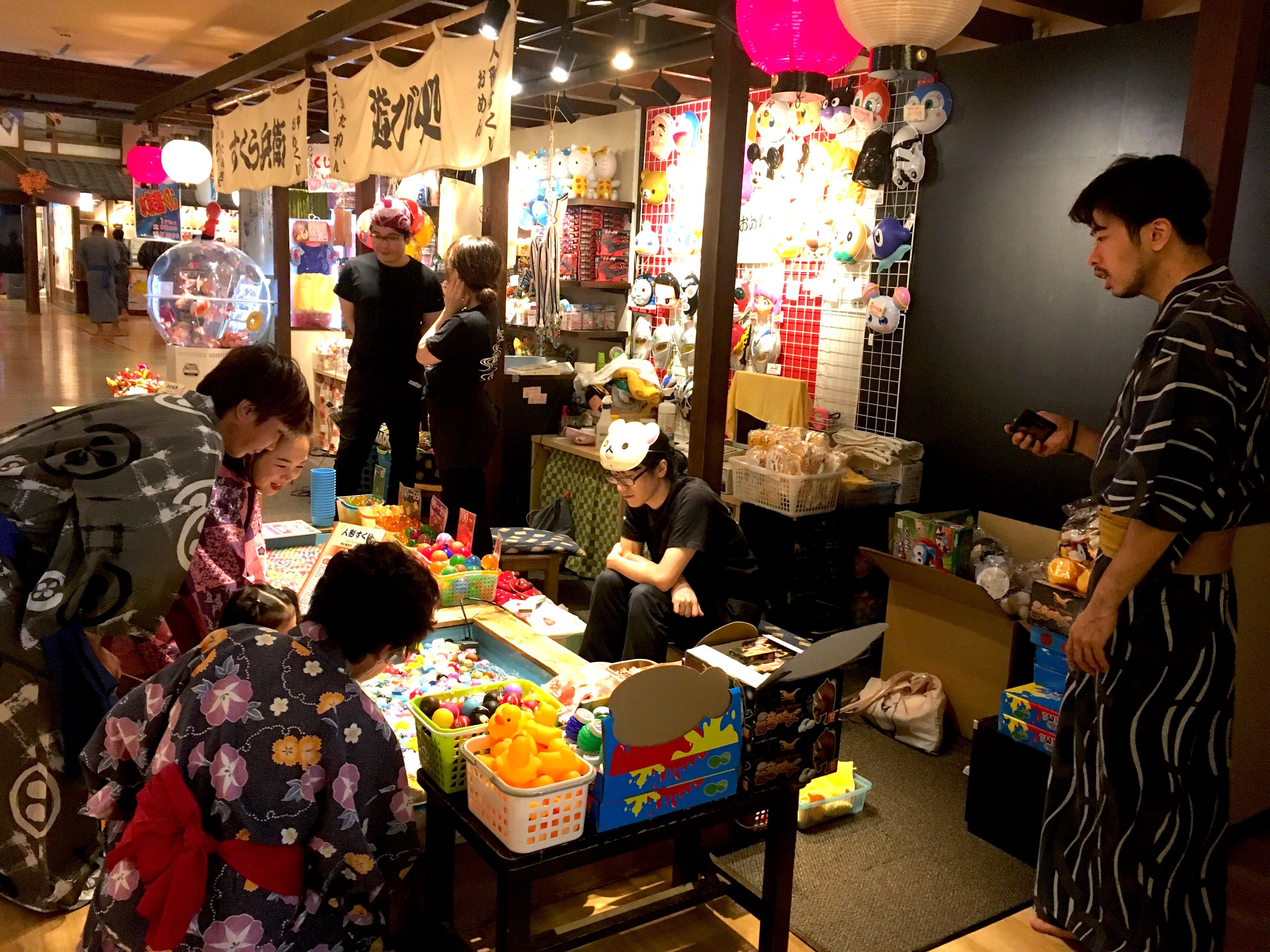 日本傳統遊藝小攤。(圖片取自valepra0330)