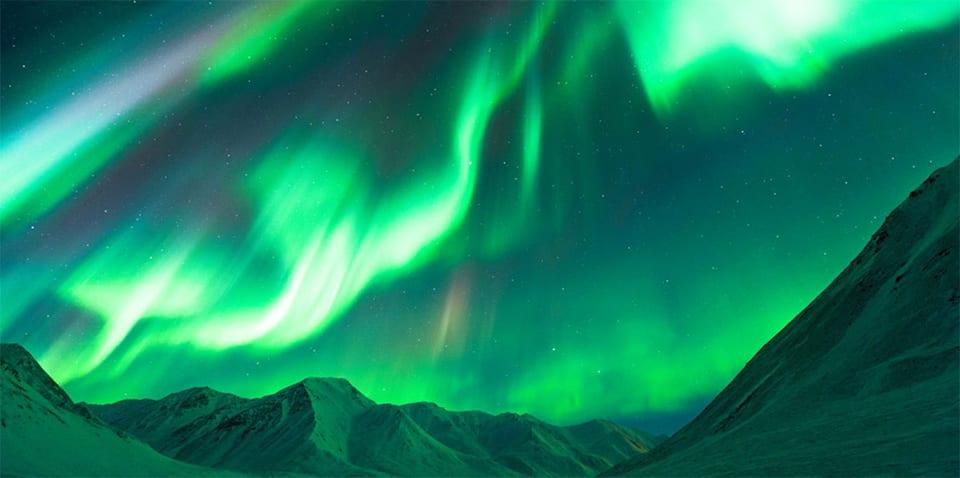 阿拉斯加的極光