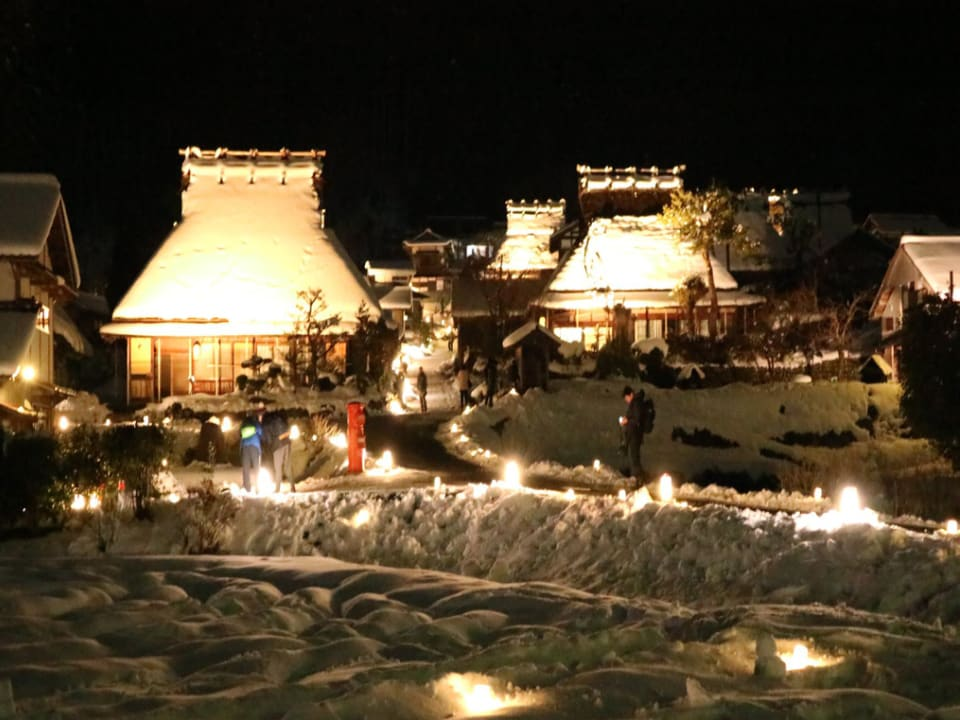 美山町 合掌村 點燈 雪燈廊