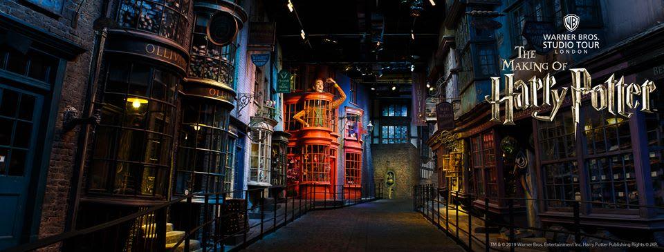 製片廠內斜角巷展區(圖片來源: Harry Potter製片廠FB粉專)