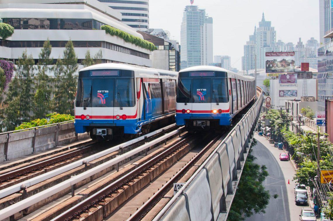 曼谷BTS非常的方便,貫穿Siam、Silom 還有整條 Sukhumvit 路